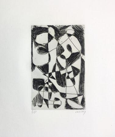 エッチング Lanskoy - DÉDALE. Gravure pour l'affiche de Pierre Lecuire (1960)