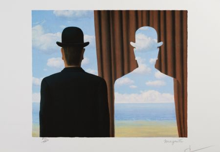 リトグラフ Magritte - Décalcomanie (Decalcomania)