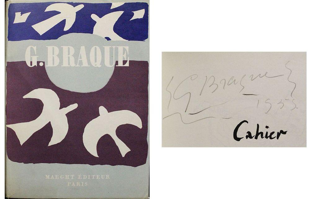 技術的なありません Braque - Dédicace / dessin pour Cahier de Georges Braque 1917-1947