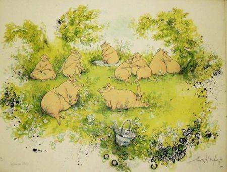リトグラフ Searle - Déjeuner sur l'herbe