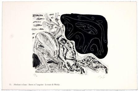 リトグラフ Nørgaard - D. Abraham et Isaac - Søren et l'angoise - la route de Morija