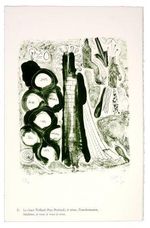 リトグラフ Nørgaard - D. La chaise Tiefland (Pays profond), le trône, Transformation, idéalisme, je veux-je veux-je veux