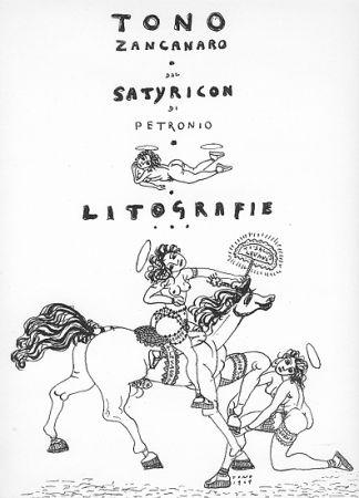 リトグラフ Zancanaro - Dal Satiricon di Petronio