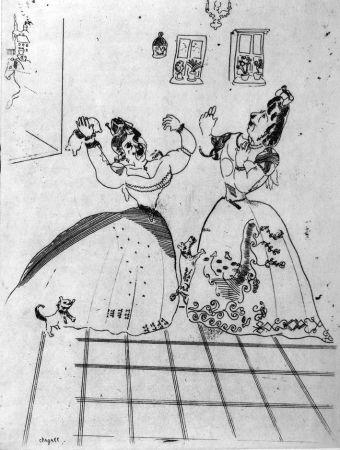 エッチング Chagall - Dames Charmantes Et Charmantes À Tous Égards