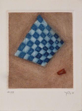 彫版 Piza - Damier Bleu