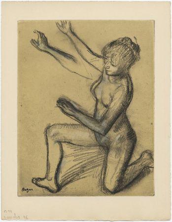 エッチングと アクチアント Degas - Danseuse : étude de nu et mouvements (vers 1896)