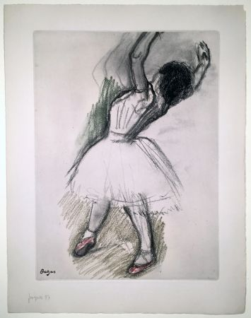 エッチングと アクチアント Degas - Danseuse (étude, vers 1880)