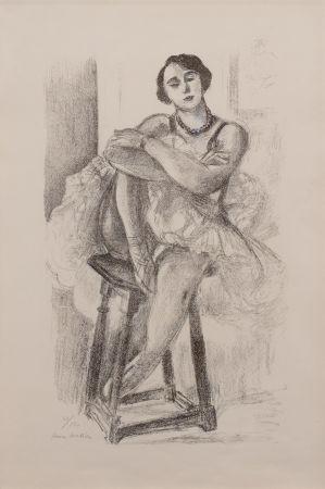 リトグラフ Matisse - Danseuse au Tabouret, from Dix Danseuses
