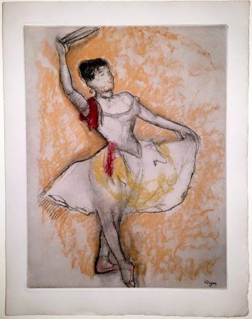 エッチングと アクチアント Degas - Danseuse au tambourin (1882)