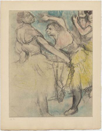 エッチングと アクチアント Degas - Danseuses à l'Opéra (étude, vers 1880)