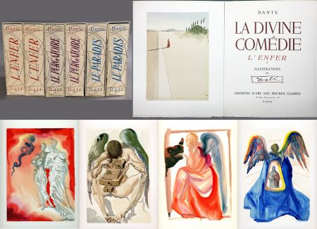 挿絵入り本 Dali - Dante : LA DIVINE COMÉDIE. 6 volumes. 100 planches couleurs et suites de décompositions de couleurs.(1959)