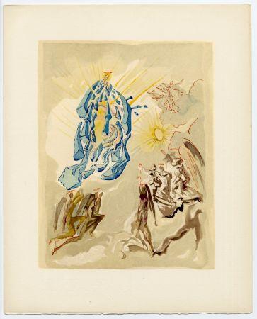 木版 Dali - Dante recouvre la vue. La Divine Comédie (Le Paradis, Chant 26)