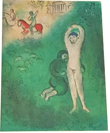 リトグラフ Chagall - Daphnis and Chloe