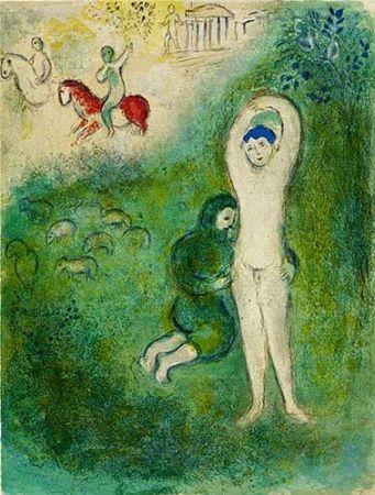 リトグラフ Chagall - Daphnis et Gnathon