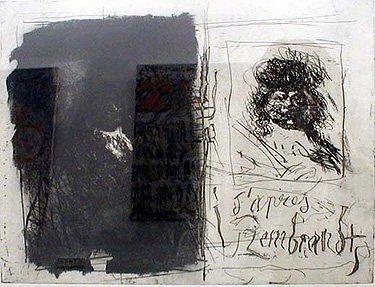 エッチングと アクチアント Clavé - D'apres Rembrandt I-I