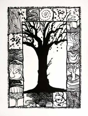 リトグラフ Alechinsky - D'arbre et d'encre