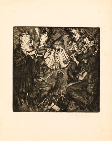 エッチング Oppenheimer - Das Rosè-Quartett