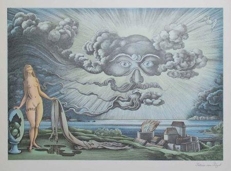 リトグラフ Von Gugel - Das Wolkengesicht