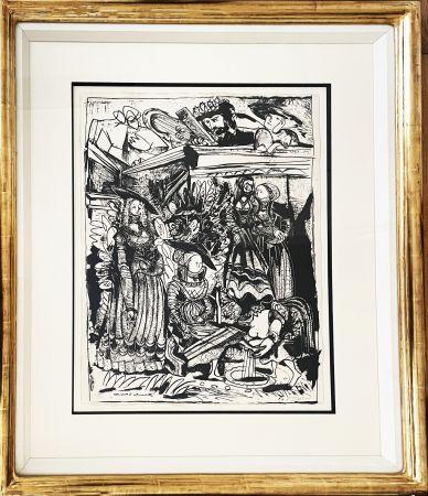リトグラフ Picasso - David and Bathsheba (After Lucas Cranach)
