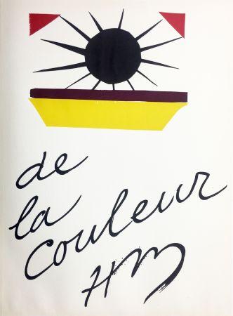 リトグラフ Matisse - DE LA COULEUR  (Pour la revue Verve n°13, 1945)