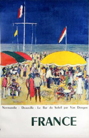オフセット Van Dongen - Deauville  Le Bar Au Soleil  Normandie