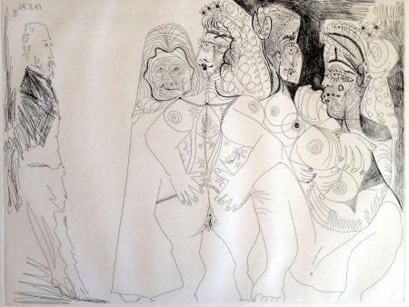 彫版 Picasso - DEGAS VIEWING THREE NUDES