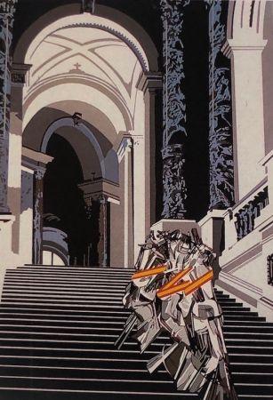 シルクスクリーン Equipo Cronica - Denudo bajando la escalera (carpeta composiciones)