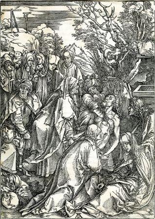 木版 Durer - Deposition of Christ (The Large Passion), c. 1496-97