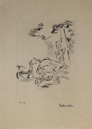 彫版 Kokoschka - Der Beobachter