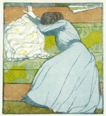 木版 Kurzweil - Der Polster (The Pillow)