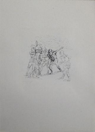 リトグラフ Slevogt - Der verwundete Hellene