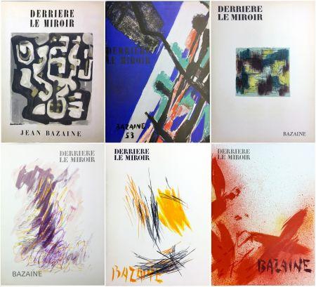 挿絵入り本 Bazaine - DERRIÈRE LE MIROIR. BAZAINE. Collection complète des 6 volumes de la revue DERRIÈRE LE MIROIR consacrés à Jean Bazaine (parus de 1949 à 1975).