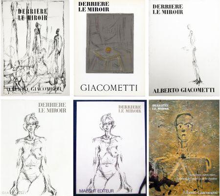 挿絵入り本 Giacometti - DERRIÈRE LE MIROIR. COLLECTION COMPLÈTE DES NUMÉROS CONSACRÉS À A. GIACOMETTI (1951-1979)