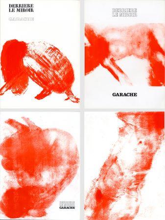 挿絵入り本 Garache - DERRIÈRE LE MIROIR. GARACHE. Réunion des 3 numéros de la revue consacrés à Claude Garache (de 1975 à 1980).
