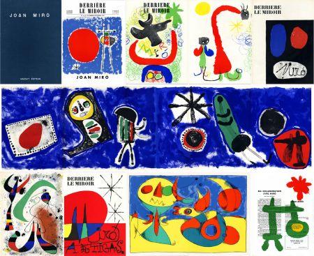 挿絵入り本 Miró - DERRIÈRE LE MIROIR n° 14-15 (Nov-Décembre 1948) + n° 29-30 (Mai 1950) + n° 57-58-59 (Juin 1953) + n° 87-88-89 MIRO ARTIGAS (Juin-Juillet-Août 1956). 25 LITHOGRAPHIES ORIGINALES. ALBUM MAEGHT ORIGINAL.