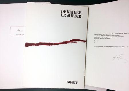 挿絵入り本 Tàpies - DERRIÈRE LE MIROIR n° 180 . TÀPIES . 1969. TIRAGE DE LUXE SIGNÉ.