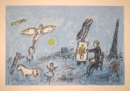 リトグラフ Chagall - DERRIÈRE LE MIROIR, No 246. Chagall. Lithographies originales