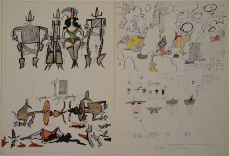 挿絵入り本 Steinberg - DERRIÈRE LE MIROIR, Nos 53-54