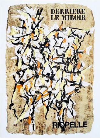 挿絵入り本 Riopelle - Derrière le Miroir n° 160. RIOPELLE. 9 LITHOGRAPHIES ORIGINALES. juin 1966.