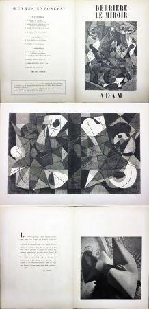 挿絵入り本 Adam - Derrière le Miroir n° 24. ADAM - Décembre 1949. 1ere édition.