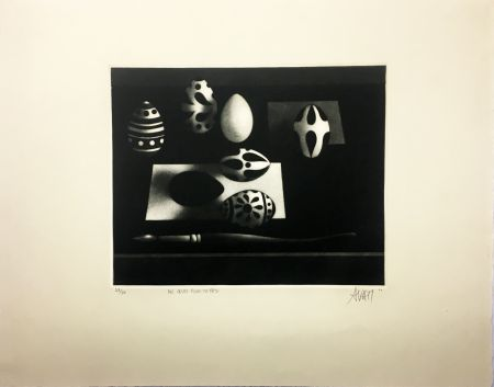 メゾチント彫法 Avati - Des œufs pour ta fête (1960)
