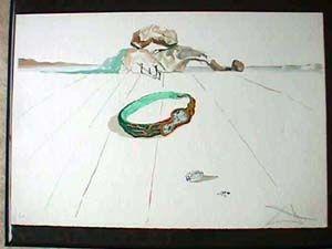 リトグラフ Dali - Desert Bracelet Or Essence Of Time
