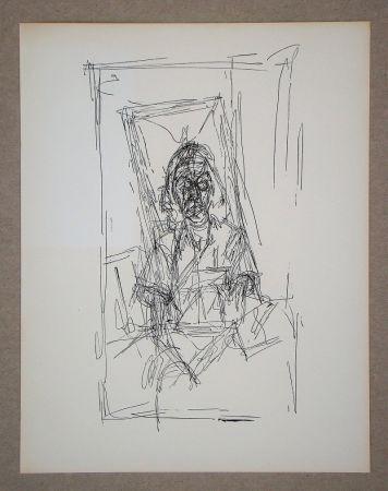 リトグラフ Giacometti - Dessin, 1954
