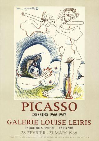 リトグラフ Picasso - Dessins 1966-67 à la Galerie Louise LEIRIS
