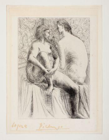 エッチング Picasso - Deux femmes nues