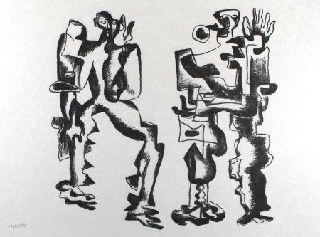 リトグラフ Zadkine - Deux figures