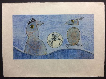 リトグラフ Ernst - Deux Oiseaux
