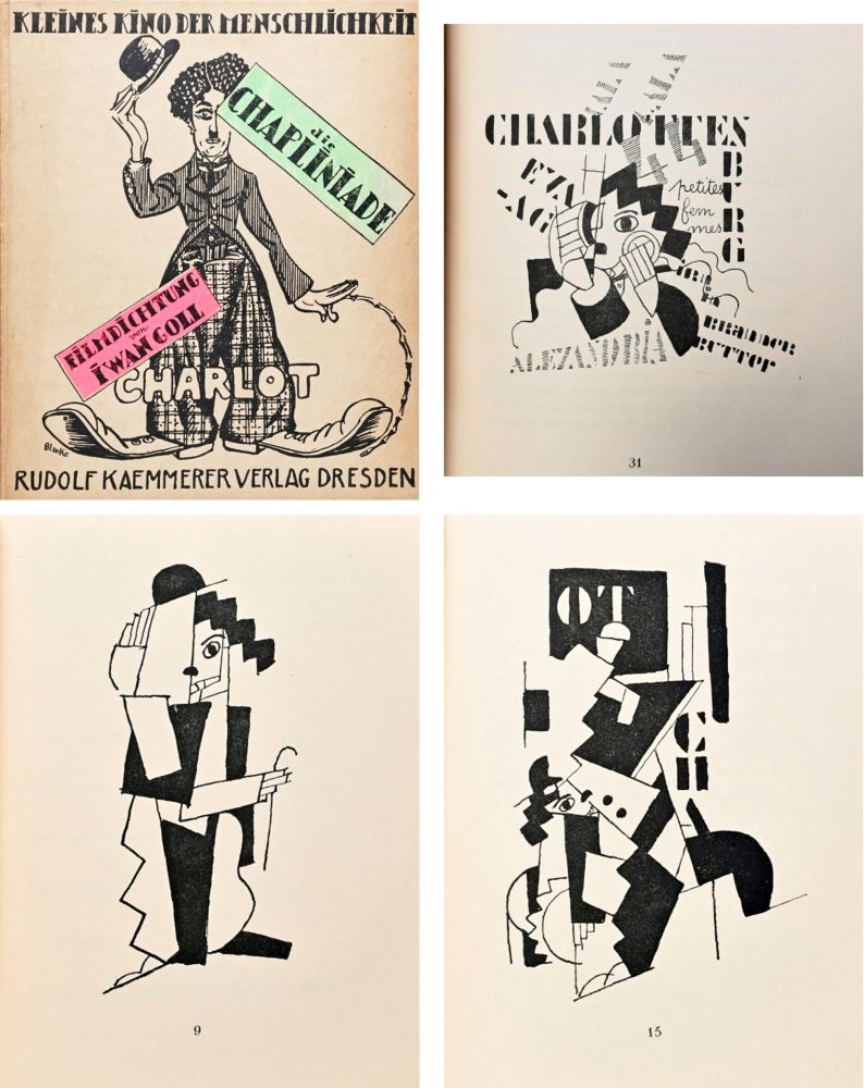挿絵入り本 Leger - DIE CHAPLINIADE (Filmdictung von Iwan Goll) 1920..