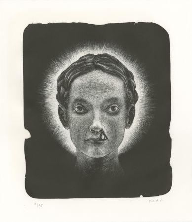 リトグラフ Ott - Die Heilige (La sainte) - Triptyque