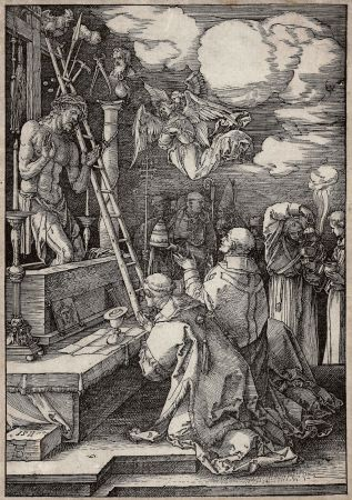 木版 Durer - Die Messe des heiligen Gregor (The mass of St. Gregory)